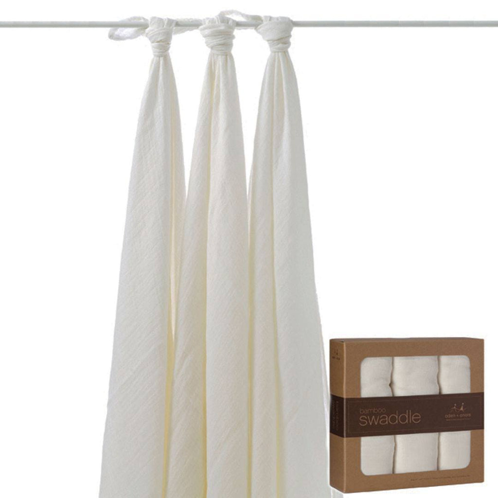 aden + anais Bamboo Swaddles - Earthly - 3 Pack - Swaddling Wraps - Natural Baby Shower