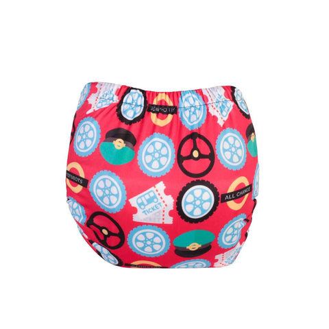 TotsBots Easyfit Star Nappy - Wheels on the Bus-Nappies-Wheels on the Bus- Natural Baby Shower