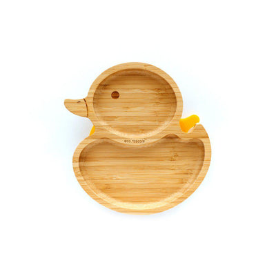 Eco Rascals Baby Plate - Duck - Yellow-Bowls & Plates-Yellow-Duck- Natural Baby Shower