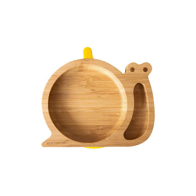Eco Rascals Baby Plate - Snail - Yellow-Bowls & Plates- Natural Baby Shower