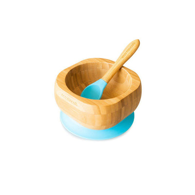 Eco Rascals Bowl + Spoon Set - Blue-Bowls & Plates- Natural Baby Shower