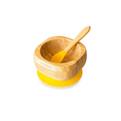 Eco Rascals Bowl + Spoon Set - Yellow-Bowls & Plates- Natural Baby Shower