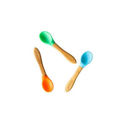 Eco Rascals Spoons - Blue/Green/Orange - 3 Pack-Cutlery- Natural Baby Shower