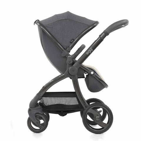 egg Stroller - Gun Metal with Quantum Grey - Strollers - Natural Baby Shower