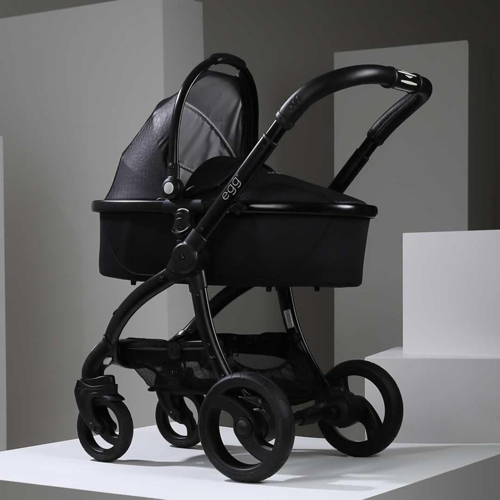 egg Carrycot - Black with Jurassic Black - Carrycots - Natural Baby Shower