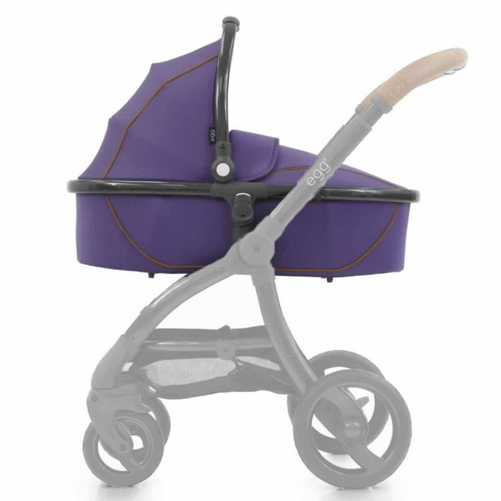 egg Carrycot in Gun Metal with Gothic Purple