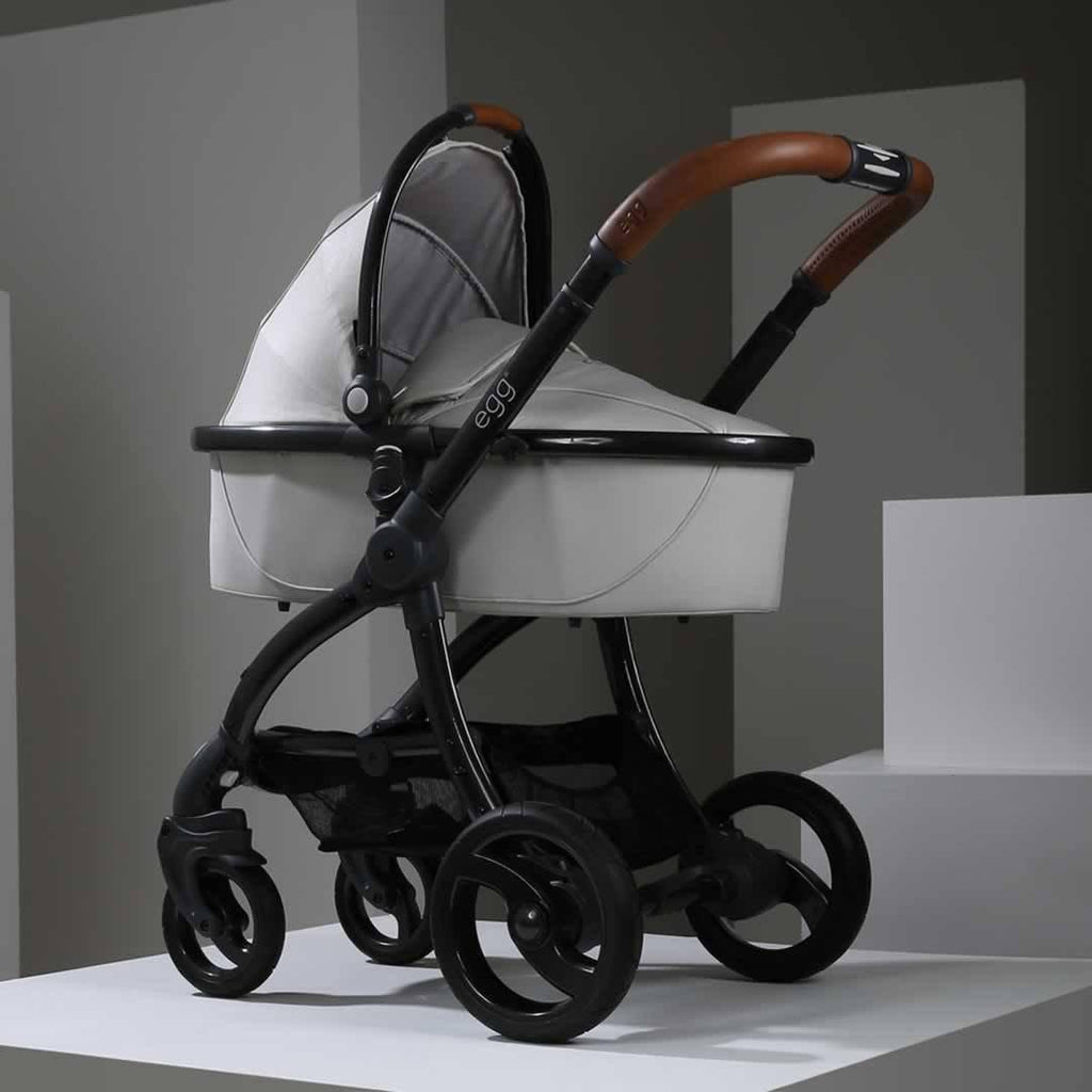 egg Carrycot - Gun Metal with Jurassic Cream - Carrycots - Natural Baby Shower