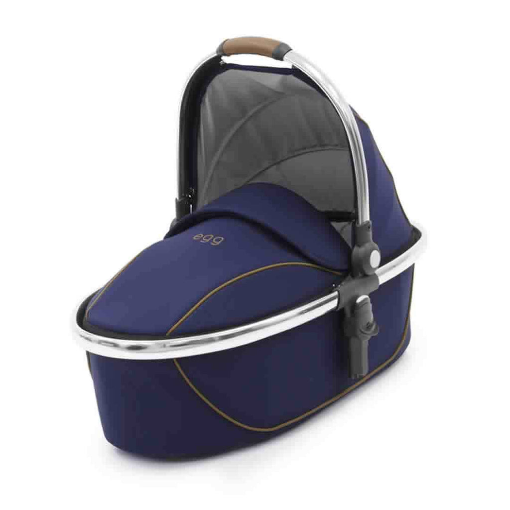 egg Carrycot - Mirror with Regal Navy - Carrycots - Natural Baby Shower