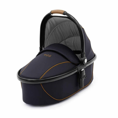 egg Carrycot Black with Espresso Black