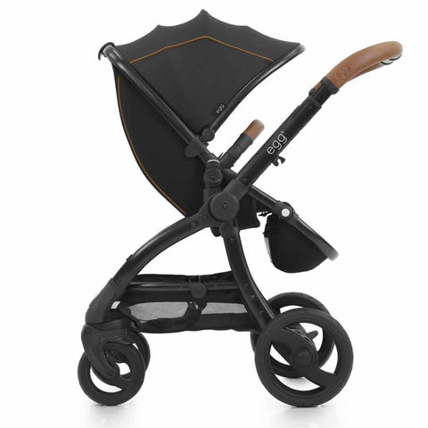 egg Stroller - Black with Espresso Black - Strollers - Natural Baby Shower