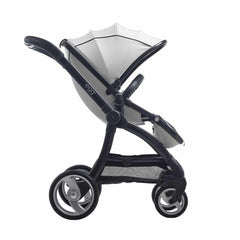 egg Stroller - Gun Metal with Arctic White - Ex-Display Forward Facing