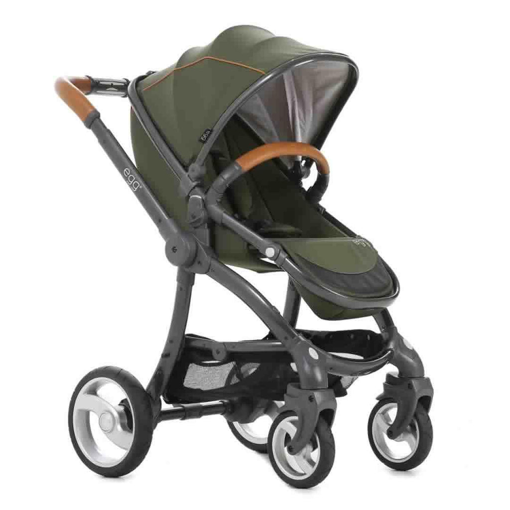 egg Stroller - Gun Metal with Forest Green Side