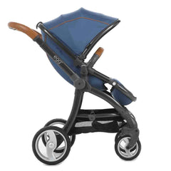 egg Stroller in Gun Metal with Petrol Blue
