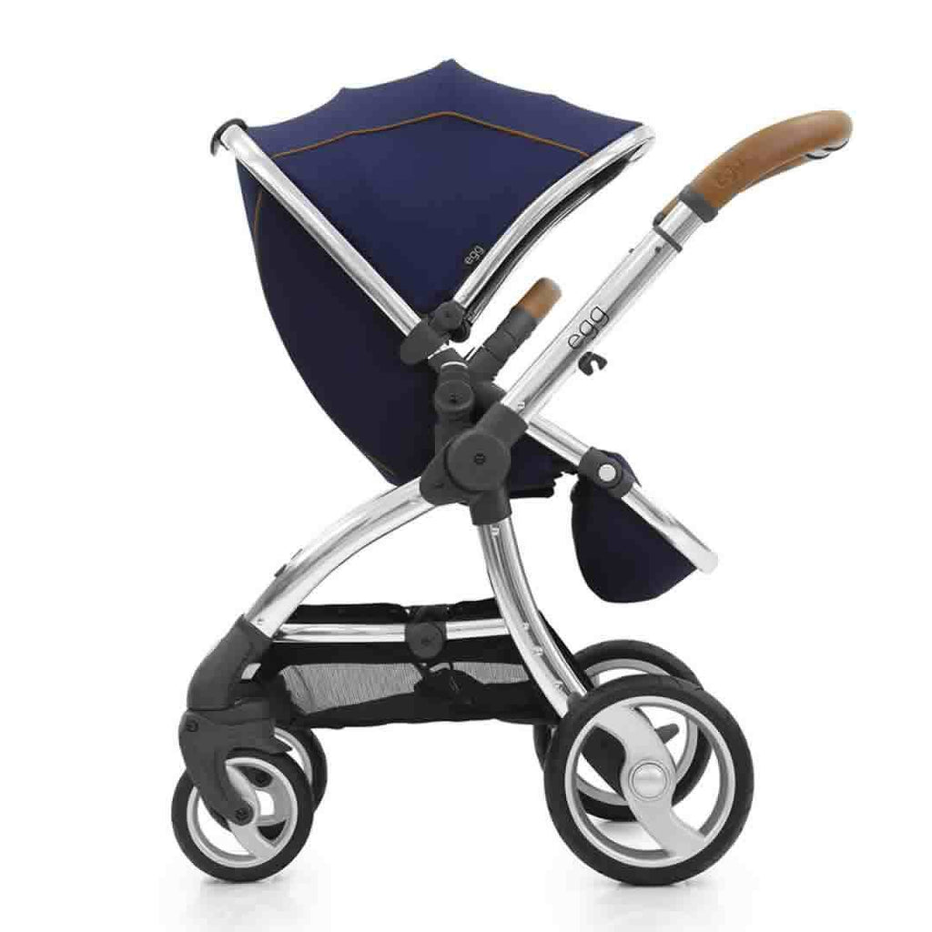 egg Stroller in Mirror with Regal Navy