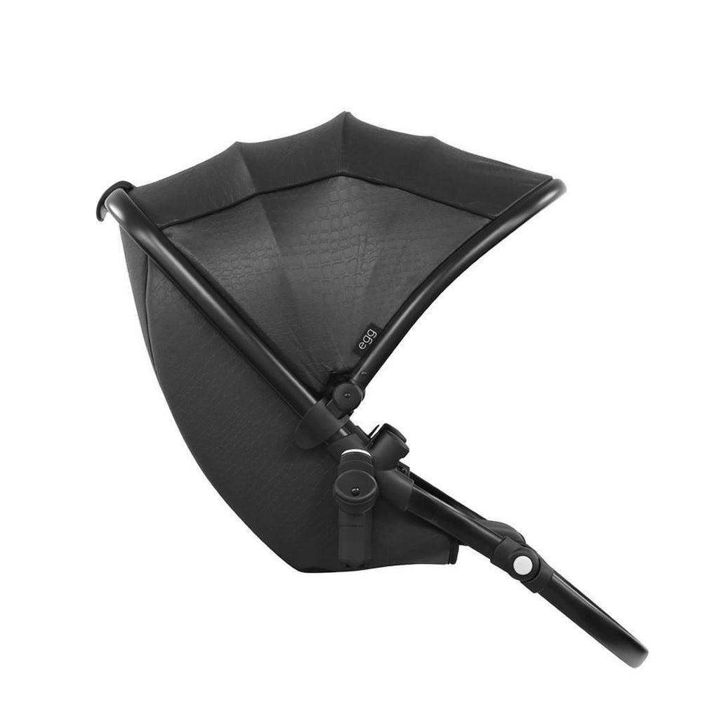 egg Tandem Seat in Black with Jurassic Black