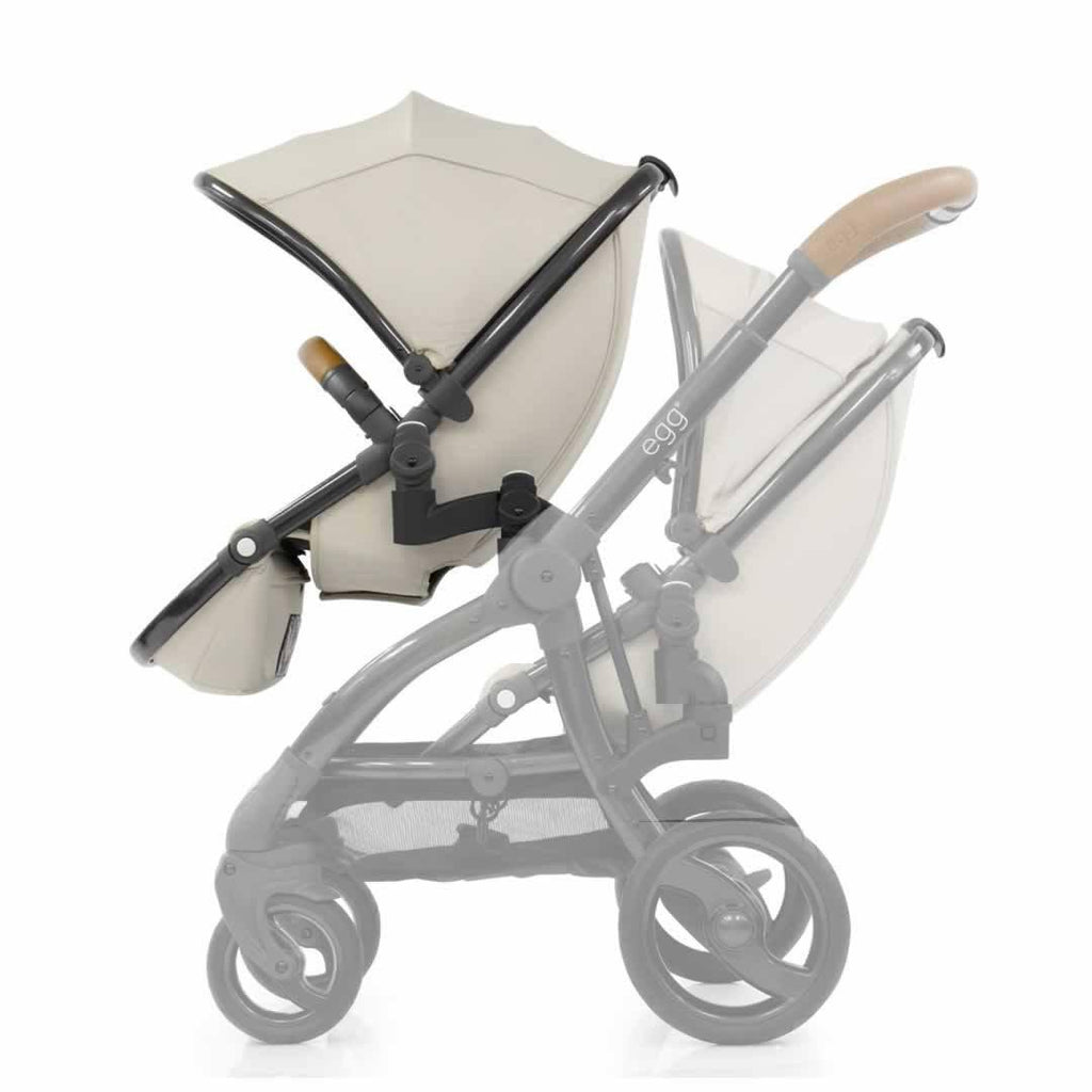 egg Tandem Seat - Gun Metal with Jurassic Cream - Tandem Seats - Natural Baby Shower