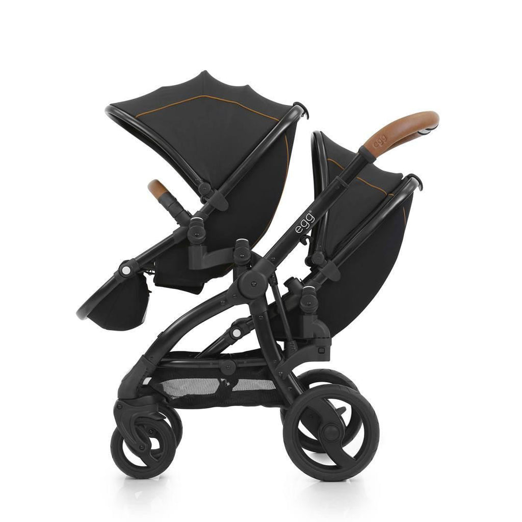 egg Tandem Seat Black with Espresso Black