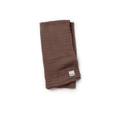 Elodie Details Bamboo Muslin Blanket - Chocolate-Blankets- Natural Baby Shower