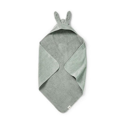Elodie Details Hooded Towel - Mineral Green Bunny-Towels & Robes-Mineral Green Bunny- Natural Baby Shower