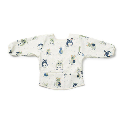 Elodie Details Long Sleeve Bib - Forest Mouse-Bibs-Forest Mouse- Natural Baby Shower