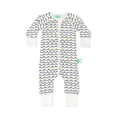 ergoPouch Bamboo Layers Long Sleeve - Waves-Sleepsuits- Natural Baby Shower