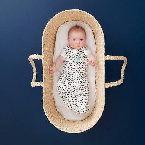 ergoPouch Cocoon Bamboo Swaddle Bag - 0.2 TOG - Waves-Sleeping Bags- Natural Baby Shower