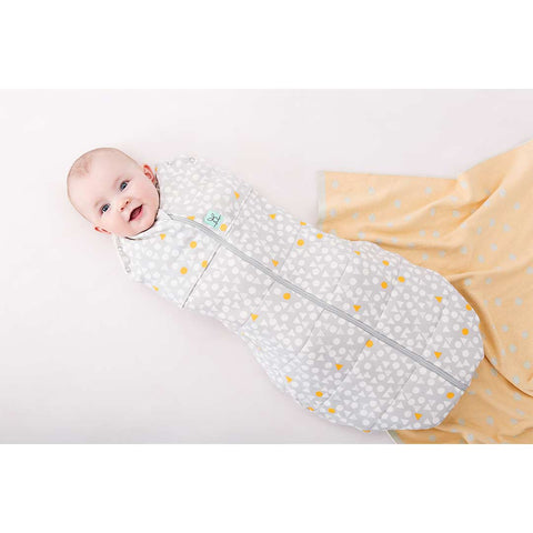 ergoPouch ErgoCocoon - 2.5 TOG - Triangle Pops-Swaddling Wraps- Natural Baby Shower