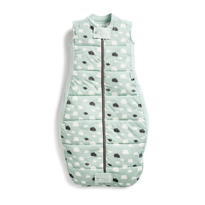 ergoPouch Sheeting Sleeping Bag - 3.5 TOG - Mint Clouds-Sleeping Bags- Natural Baby Shower