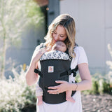 Ergobaby Original Adapt Carrier - Graphic Grey-Baby Carriers-Graphic Grey- Natural Baby Shower