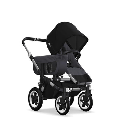 Bugaboo Donkey2 - Aluminium with Steel Blue-Strollers-Mono-Black- Natural Baby Shower