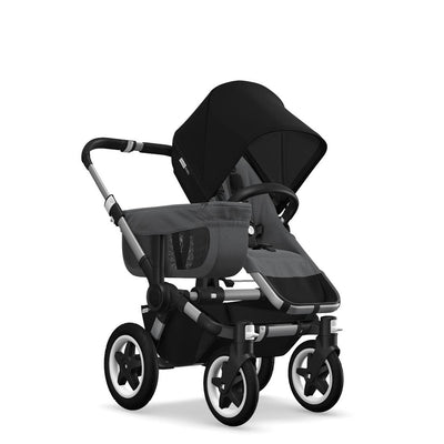 Bugaboo Donkey2 - Aluminium with Grey Melange-Strollers-Mono-Black- Natural Baby Shower