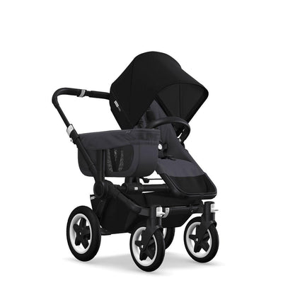 Bugaboo Donkey2 - Black with Blue Steel-Strollers-Mono-Black- Natural Baby Shower
