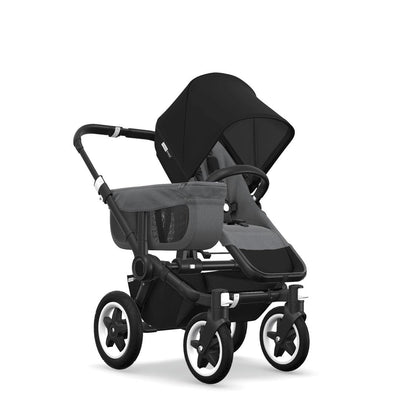 Bugaboo Donkey2 - Black with Grey Melange-Strollers-Mono-Black- Natural Baby Shower
