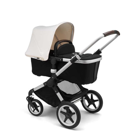 Bugaboo Fox Pushchair - Aluminium with Fresh White Carrycot
