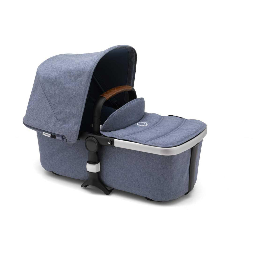 Bugaboo Fox Pushchair - Aluminium with Blue Melange Carrycot