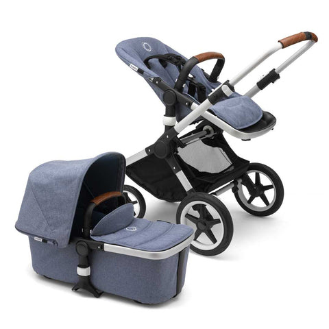 Bugaboo Fox Pushchair - Aluminium with Blue Melange