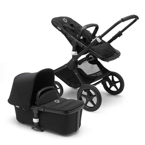 Bugaboo Fox Pushchair - Black with Black-Strollers- Natural Baby Shower