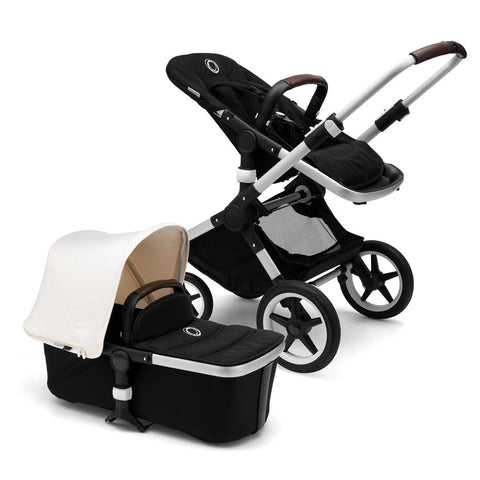 Bugaboo Fox Pushchair - Aluminium with Fresh White