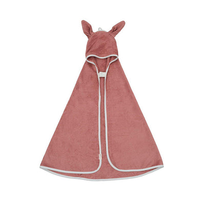 Fabelab Hooded Towel - Bunny - Clay-Towels & Robes- Natural Baby Shower