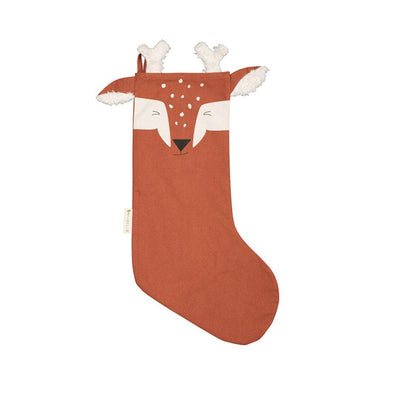 Fabelab Stocking - Woodland Deer - Cinnamon-Seasonal Decorations- Natural Baby Shower