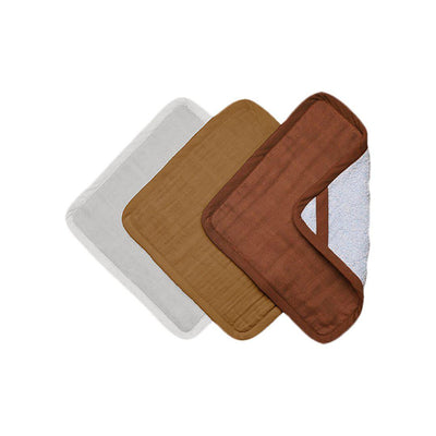 Fabelab Washcloths - Wood - 3 Pack-Washcloths-Wood- Natural Baby Shower