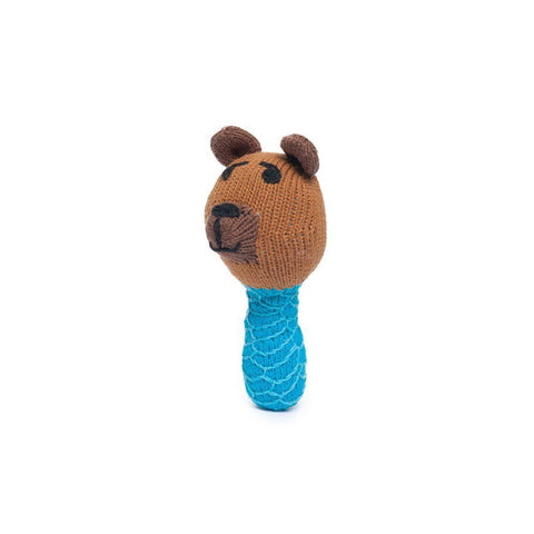 Finn + Emma Mini Rattle - Fredrick Bear