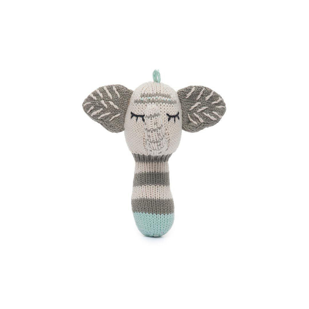 Finn + Emma Mini Rattle - Kellan the Elephant-Rattles- Natural Baby Shower