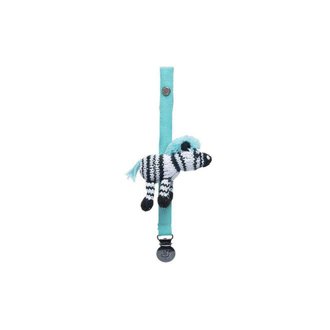 Finn + Emma Pacifier Holder - Daisy the Zebra-Dummy Chains- Natural Baby Shower