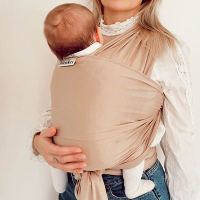 Freerider Co. Baby Wrap Carrier - Almond-Baby Carriers- Natural Baby Shower