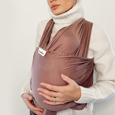 Freerider Co. Baby Wrap Carrier - Mauve-Baby Carriers- Natural Baby Shower