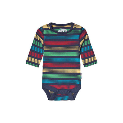 Frugi Favourite Body - Tobermory Rainbow Stripe-Bodysuits- Natural Baby Shower