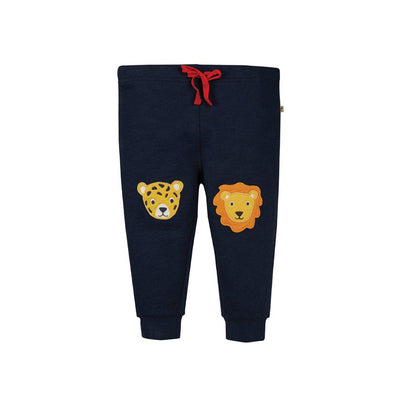 Frugi Kneepatch Crawlers - Indigo/Big Cats-Pants- Natural Baby Shower