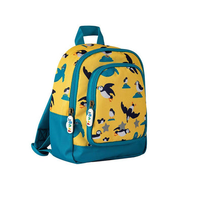 Frugi Little Adventurers Backpack - Sunflower Puffling Away-Children's Bags-Sunflower Puffling Away- Natural Baby Shower
