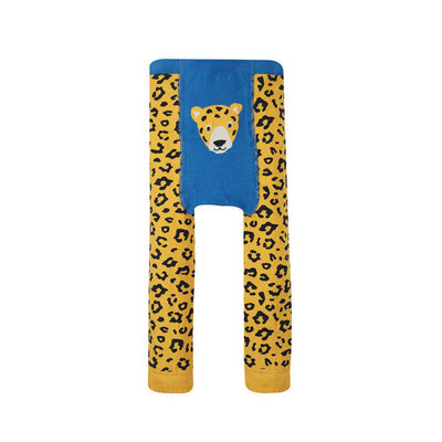 Frugi Little Knitted Leggings - Leopard Spot/Leopard-Leggings- Natural Baby Shower